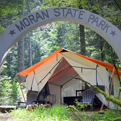 LEANTO Moran State Park Glamping
