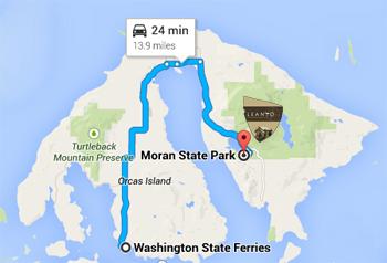 LEANTO Orcas Island Map
