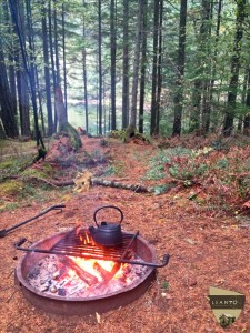 LEANTO Washington State Glamping Campfire