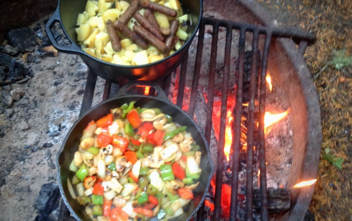 LEANTO Washington State Glamping Campfire Cooking