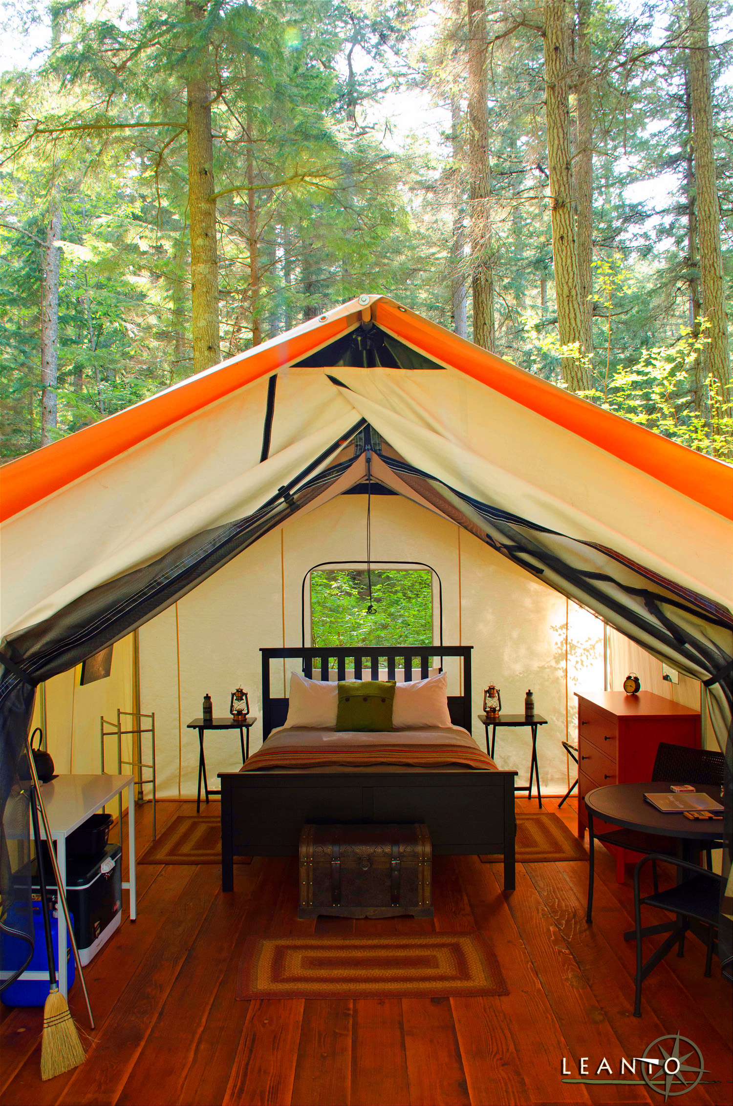 LEANTO Moran State Park Glamping Luxury Camping Orcas Island