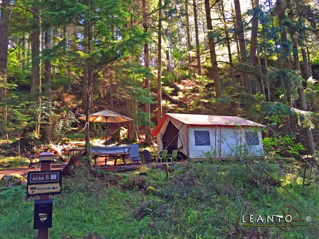 LEANTO Moran State Park Glamping Take your time.